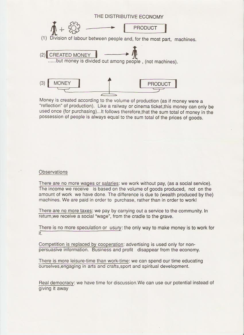 Tract sur l'Economie Distributive de Jean-Pierre Poulin en version anglaise