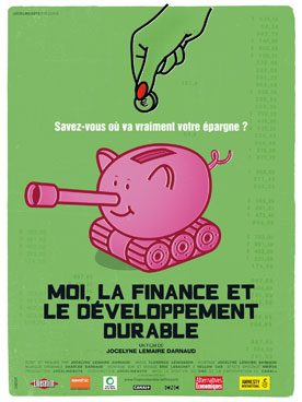 "Affiche du film ""Moi, la finance et le DD"""